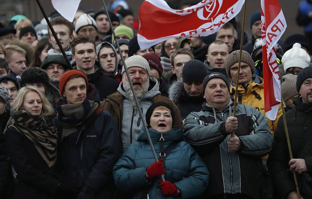 Two-day rally in protest against closer integration with Russia ends in Minsk