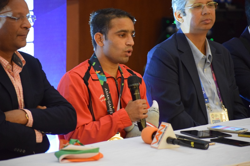 Amit Panghal became the first Indian boxer to reach the finals of World Boxing Championship