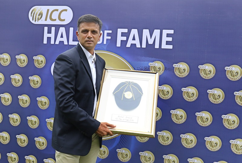 "Rahul Dravid formally inducted into the ICC Cricket ""Hall Of Fame"""