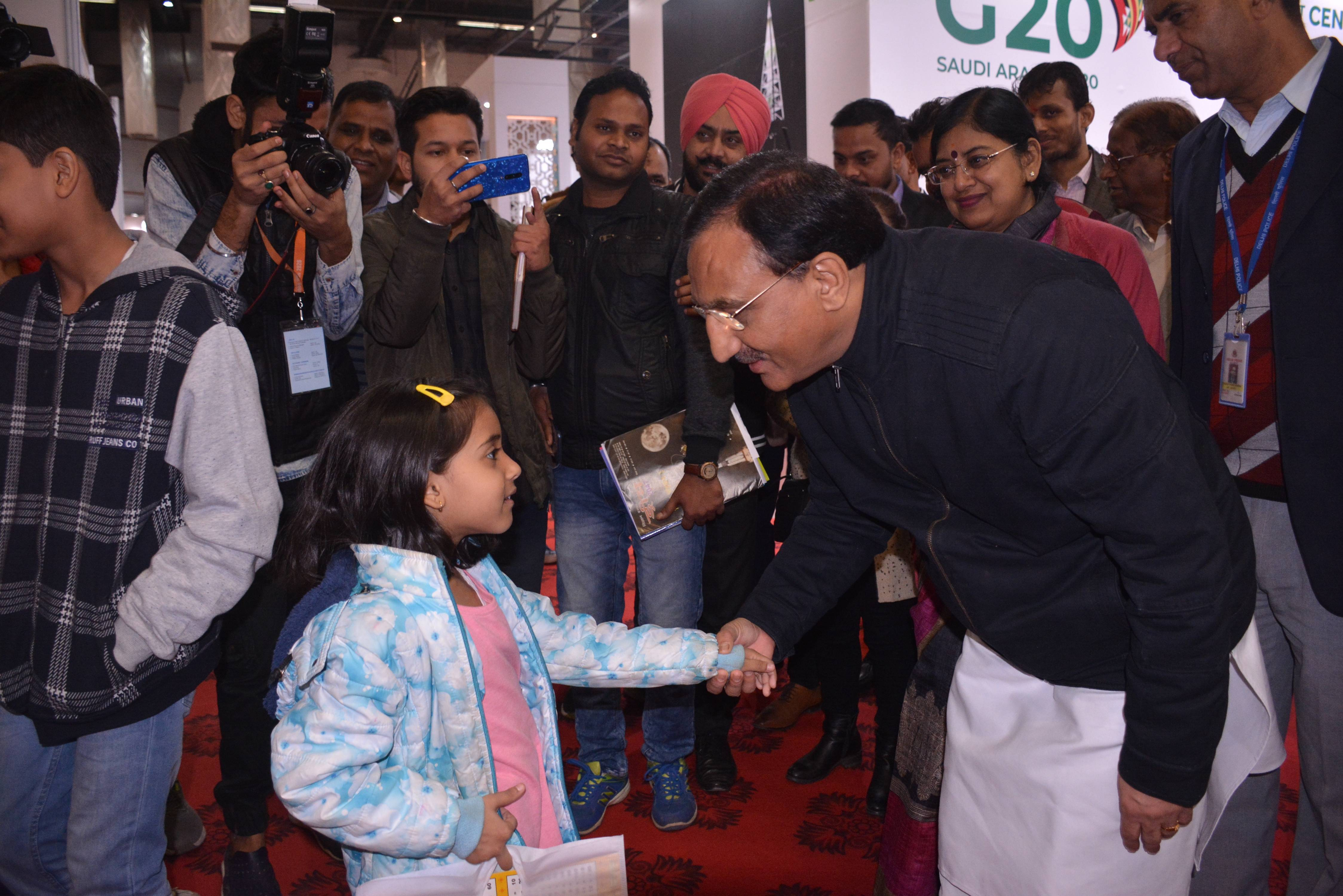 HRD Minister appreciated specially designed theme Pavilion, Gandhi: The Writers' Writer in New Delhi World Book Fair 2020