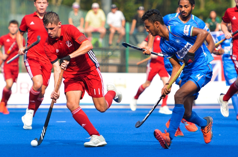 Indian Junior Men's Hockey Team and Great Britain play out an exciting 3-3 draw at the Sultan Johor Cup