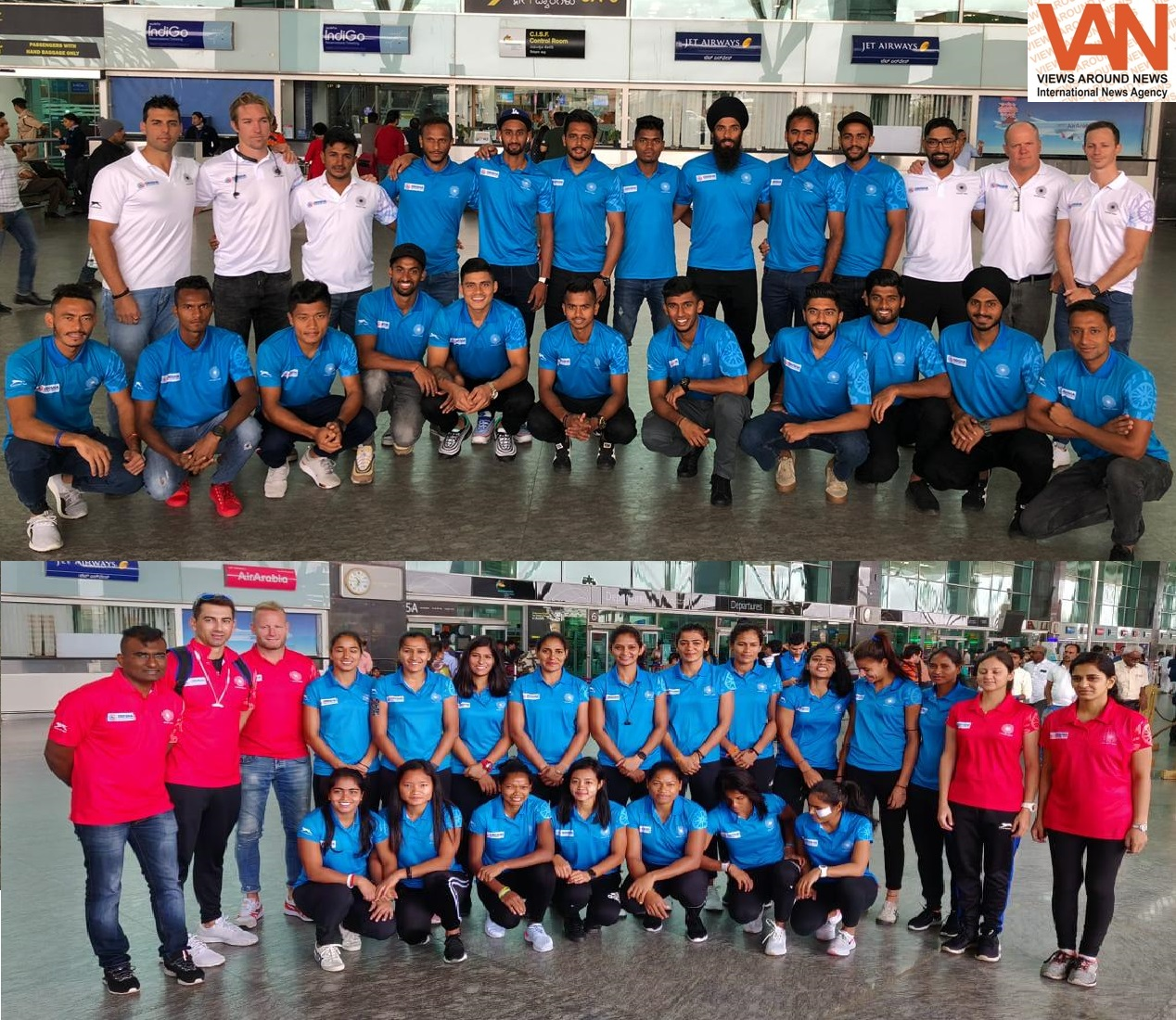 Indian Men's and Women's Hockey Teams reached Tokyo for Olympic Test Event