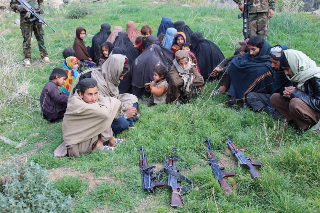 ISIS militants and their family members surrendered to Afghan forces