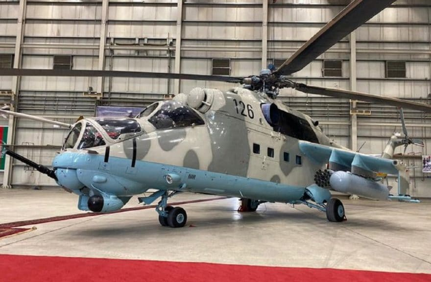 India handed over two more gunship helicopters to Afghan Air Force