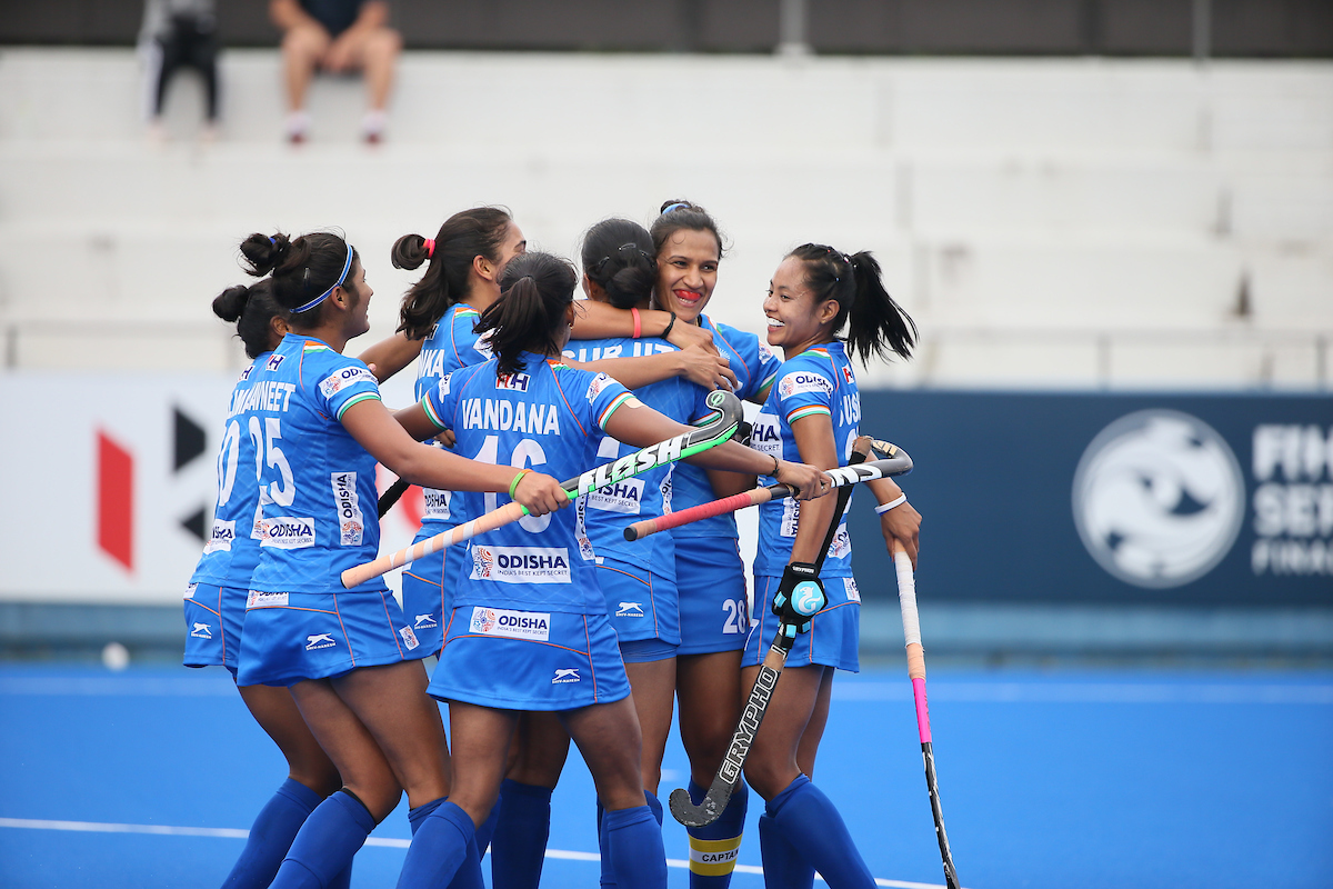 Victorious Indian Women's Hockey Team return home