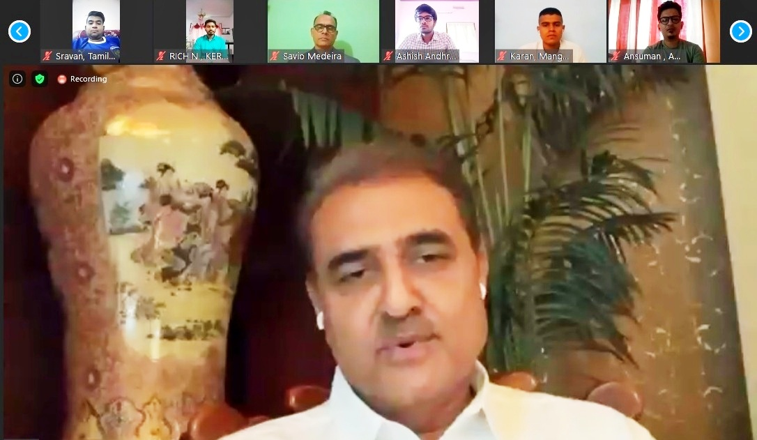 Praful Patel kicks-off virtual session of the first batch of AIFF Masters Programme