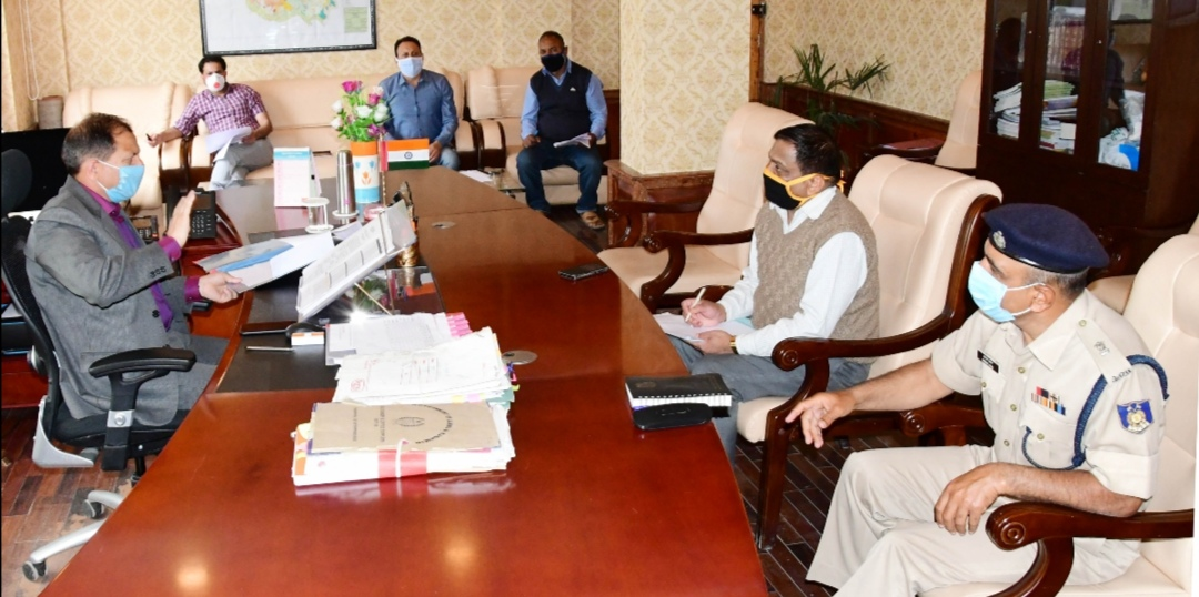 DC Ganderbal Reviews Progress of work on SSG Road