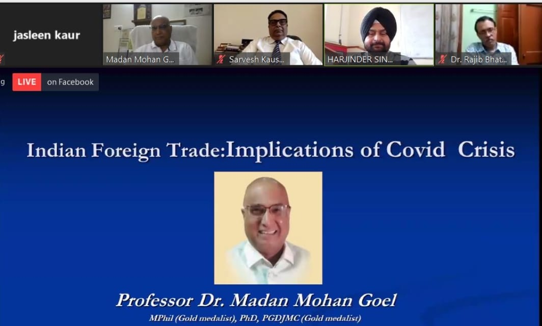 Exporters needs loans of sufficient quantum on zero rate of interest to say no to second hand imported technology for overcoming covid challenges - Prof. Goel