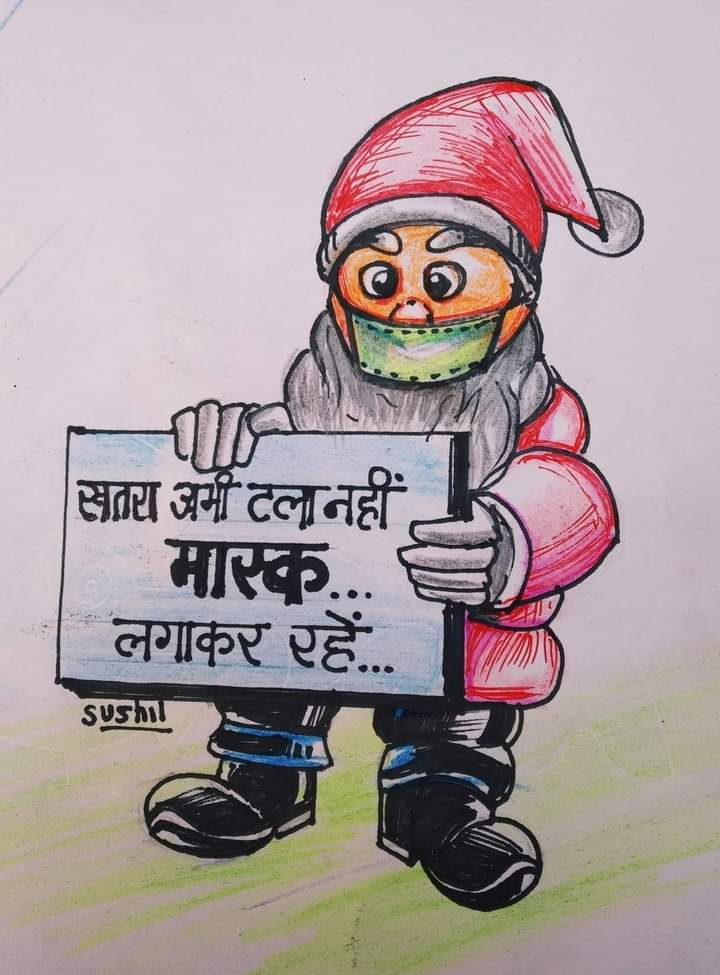 Celebrate Santa with precautions of pandemic of COVID