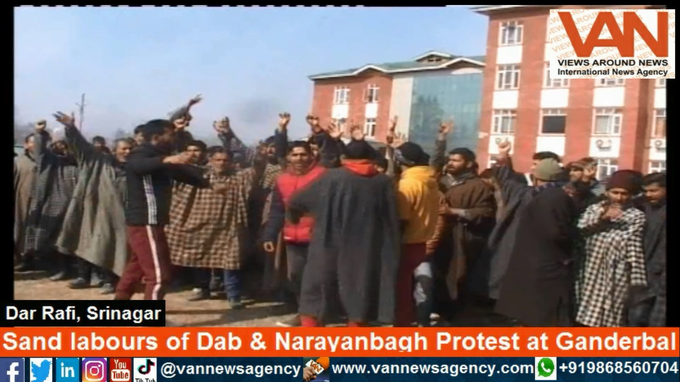 Sand labours of Dab & Narayanbagh Ganderbal Protes